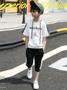 Boy's Short-Sleeve Hoodie and Pants