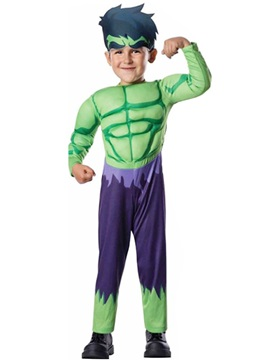 Halloween Muscle Hulk Cosplay Children's Costume