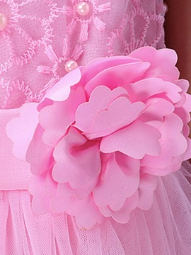 Rose Decoration Layered Girl's Dress
