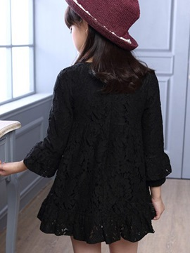Lace Long Sleeve Girl's Dress