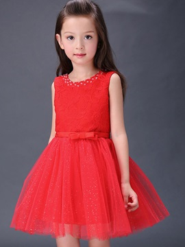 Lace Sleeveless Princess Girls Dress