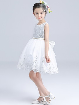 Floral Embroidery Princess Girls Dress