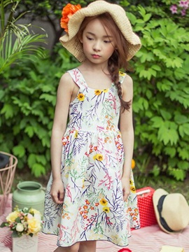 Bohemian Embroidery Spaghetti Strap Girls' Dresses