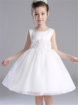 Ladylike Lace Appliques Princess Girls' Dresses