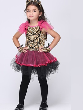 Halloween Leopard Cosplay Party Dress Girl's Costume