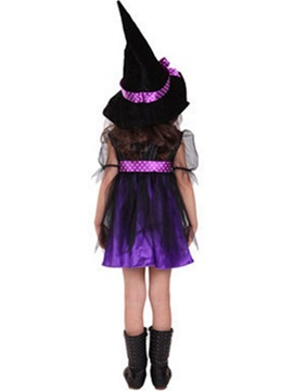 Halloween Witch Cosplay Mesh Party Dress Girl's Costume