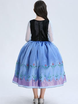 Halloween Cosplay Frozen Ball Gown Girls' Dress
