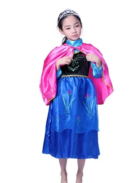 Halloween Evening Party Mesh Girls' Princess Dress (Without Crown)