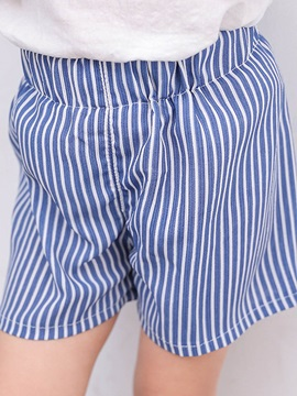 Simple Stripe Girls' Shorts