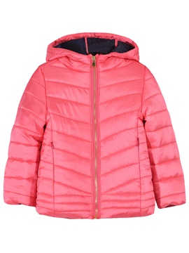 Solid Color Long Sleeve Zip Warm Girl's Coat