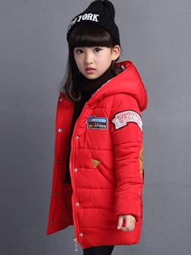 Chic Patchwork Single-Breasted Girl's Overcoat