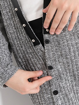 Simple Button-Front Girl's Outerwears