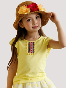Soft Cotton Short Sleeve Girl T-Shirt