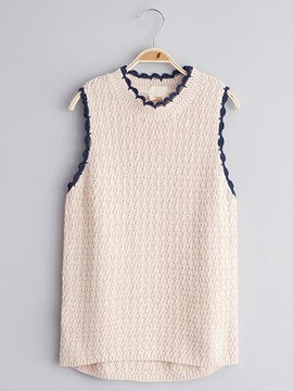 Elegant Knitting Lace-Trim Girl's Vest