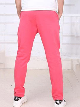 Simple Lettered Lace-Up Girl's Pant
