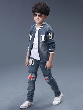 Casual Style Denim Boy's Outfit