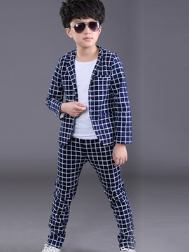 Handsome Plaid Boy's Outfit