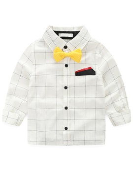 European Lattice Bow Pocket Towel Patchwork Worn Boys' Outfit