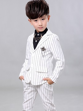 Vogue Stripe 2-Button Boy's 3-Piece Outfit