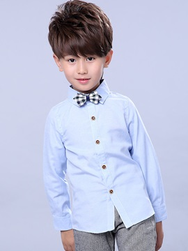 Solid Color Button-Front Boy's Vest and Pant