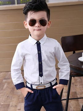 Solid Color Boys Dress Suit Set