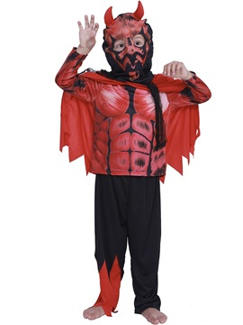 Halloween Little Red Devil Children's Show Costume Without Headgear