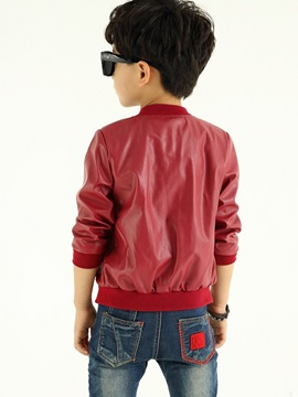 Handsome Hollow Out Pu Jacket
