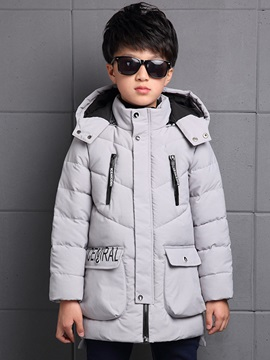 Solid Color Thickening Boy's Coat