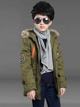 Thick Hooded Mid Length Boys' Outerwear
