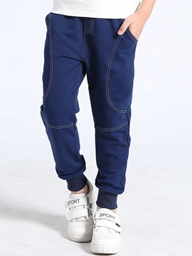 Plain Thicken Cotton Boy's Casual Pants