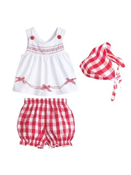 Plaids Pattern Girl's Outfits