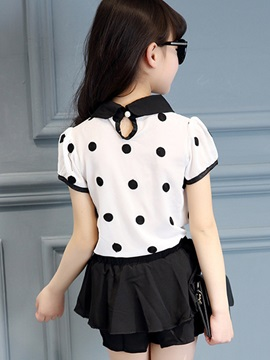 Polka Dots Pattern Girl's Outfit