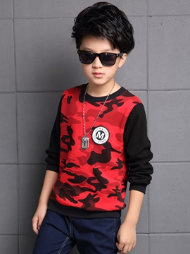 Camouflage Patchwork Boy's T-shirt