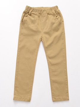 Pure Color Boy's Causal Pants