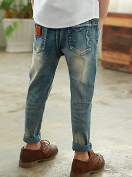 Denim Zipper Slim Boys' Jeans