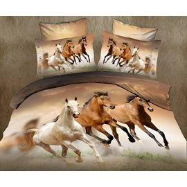 Handsome Horse 3D 4 Piece Cotton Bedding Sets