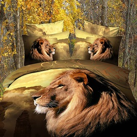 Topping Lions Cotton 4Piece Bedding Sets