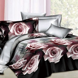 Lingering Charm of Roses 4- Piece 100% Cotton Bedding Sets