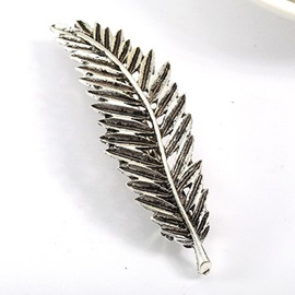 Fashion Leaf Shaped Alloy Barrette