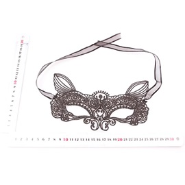 Mysterious Fox Shaped Black Lace Halloween Make up Party Masks