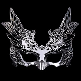 Hollow Out Eagle Shape E-Plating Plastic Costume Ball Halloween Night Masks
