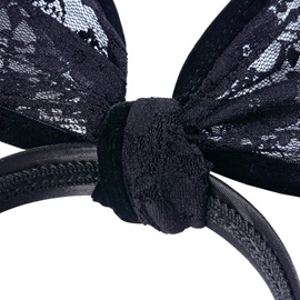Large Rabbit Ears Lace Halloween Hair Accessories