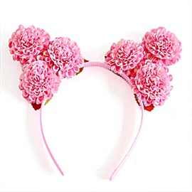 Daisy Shaped Birthday Party Cosplay Cute Cloth Hair Hoop Clasps