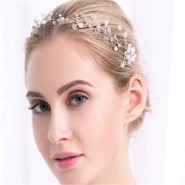 Clear Balls Pearls Bride Wedding Garland Hair Accessories