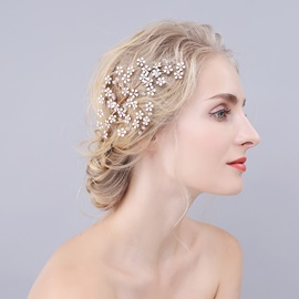 Snowflake Rhinestone Decorated Vintage Bride's Hair Comb
