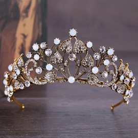 Hollow Rhinestone Decorated European Style Wedding Hair Tiara