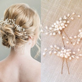 Pearl Decorated Romantic Wedding Hair Stick