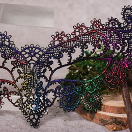 Colored Butterfly Shape Metal Masquerade Halloween Mask