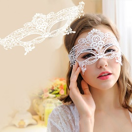 Hollow Lace Handmade Costume Queen Halloween Eyepatch Masks