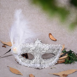 Feather Lace Artificial Leather Halloween Blinder Princess Masks